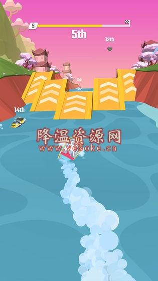 Flippy Race v1.3 解锁版 好玩的摩托艇竞速游戏 Android 第1张