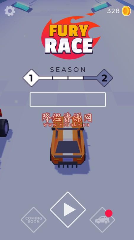 狂暴赛车 v2 无限金币版 手机休闲竞速游戏 Android 第1张