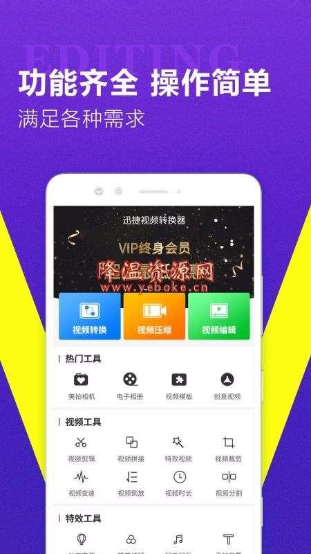 迅捷视频转换器 v1.1.3 安卓版 编辑视频神器 Android 第1张